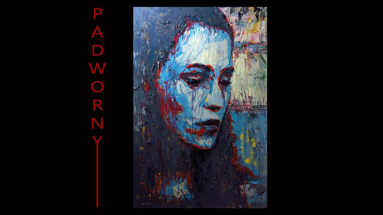 m840 Large Blue Girl Sad Female Woman Original Oil ...