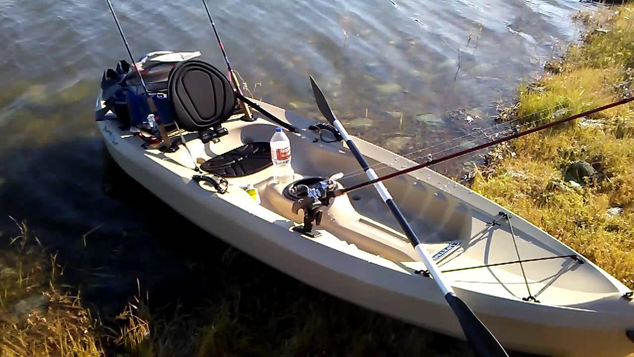Tamarak angler 120 kayak review youtube for Tamarack fishing kayak