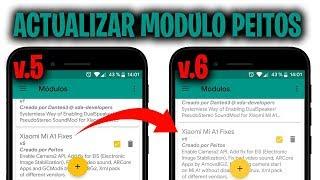 ACTUALIZAR MODULO PEITOS (V5 a V6) EN EL XIAOMI MI A1