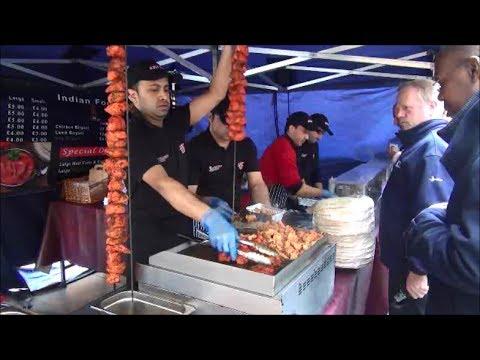 London Street Food. Indian Restaurant Seen in Islington Market