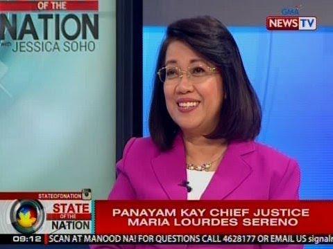 SONA: Panayam kay Chief Justice Maria Lourdes Sereno
