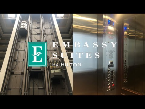 Modded! Dover Traction Scenic Elevators-Embassy Suites SF Airport Waterfront-Burlingame, CA