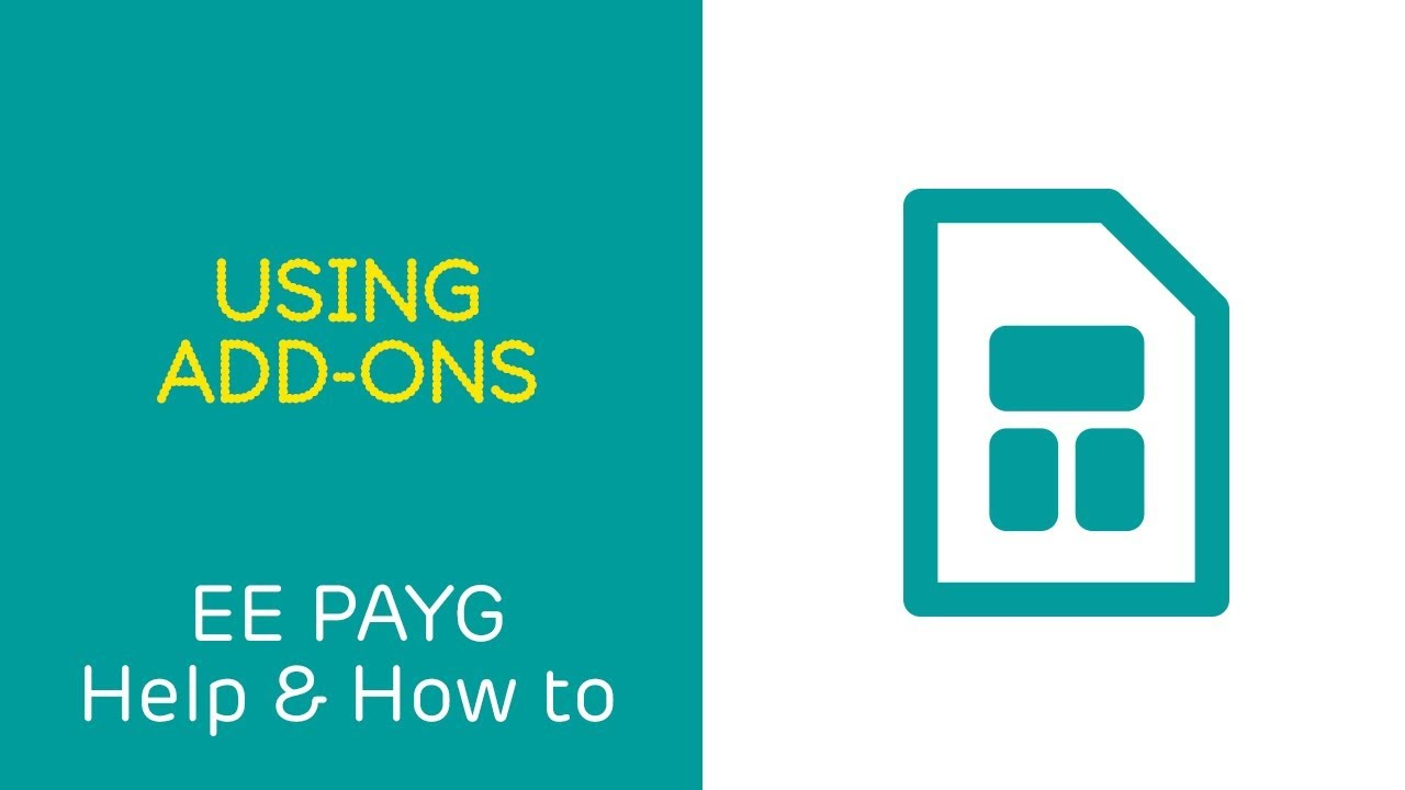 What are pay as you go and Flex plan add-ons? | Help | EE