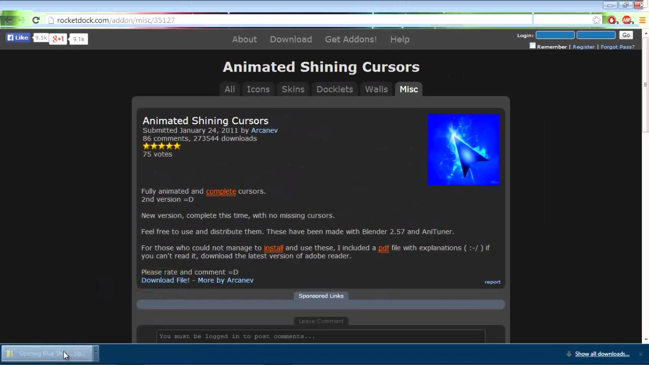 Misc.cursors for free online