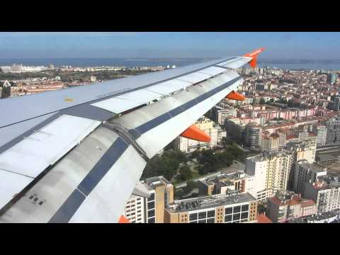 ᴴᴰeasyJet Airbus A319 G-EZDY amazing landing in Lisbon