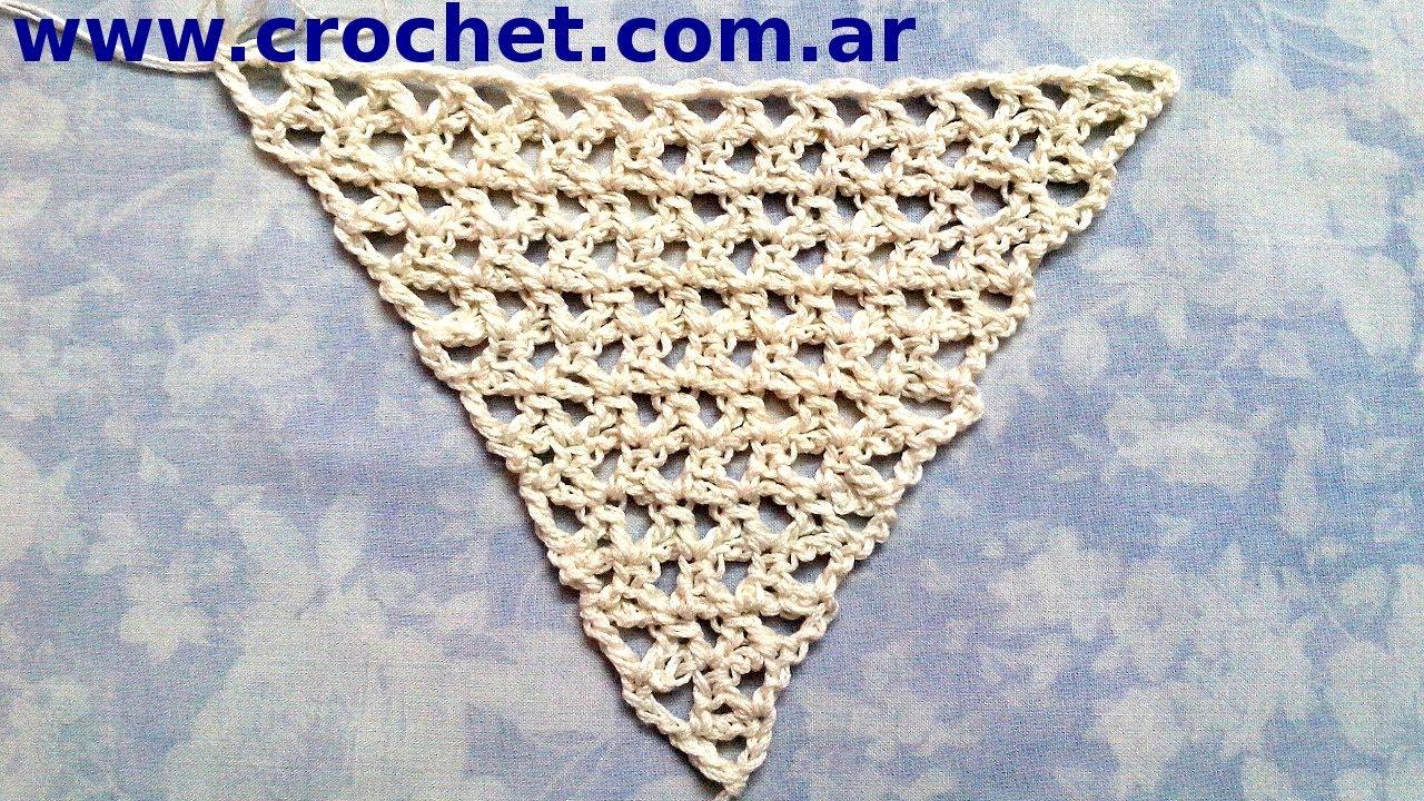 Como tejer un CHAL triangular en tejido #crochet o ganchillo ...