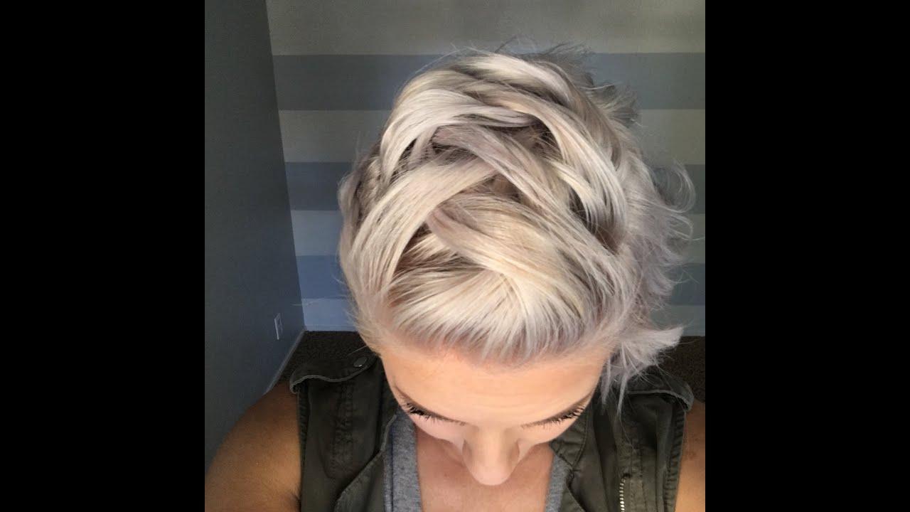 faux mohawk braid short hair