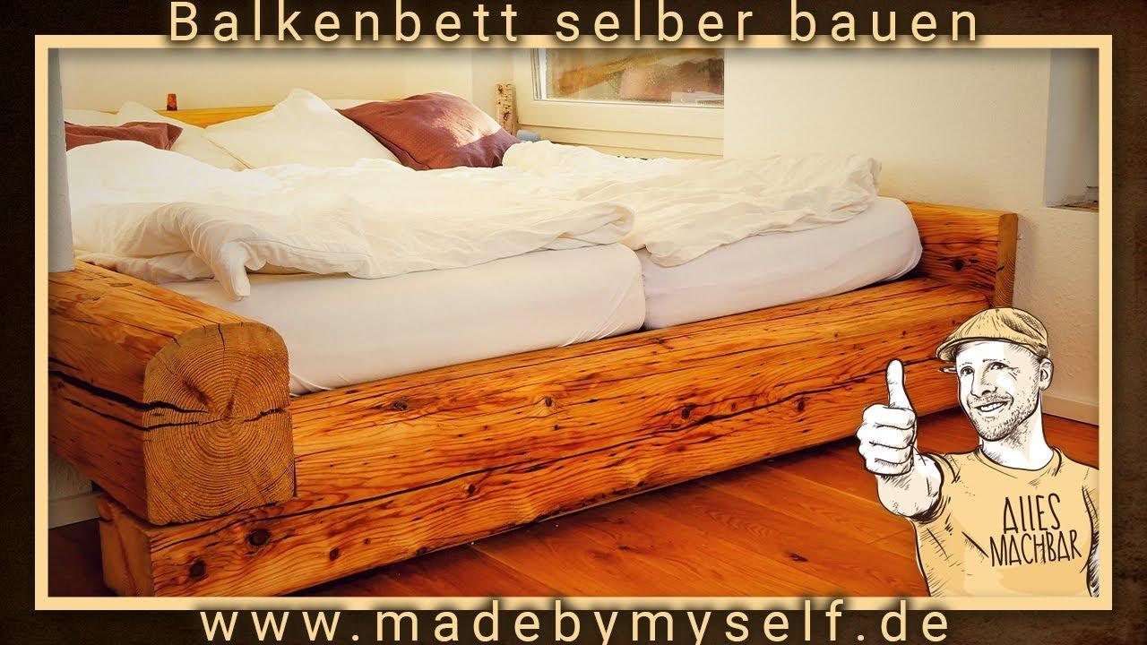 Bett aus balken