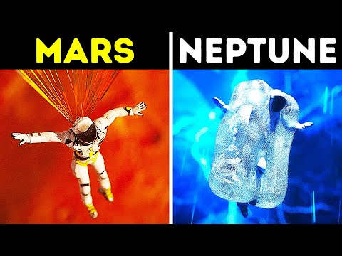 How You'd Fall from Space on Different Planets