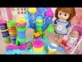 Baby doll Play doh ferris wheel maker play baby Doli house