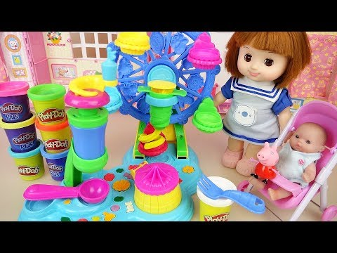 Baby doll Play doh ferris wheel maker play baby Doli house