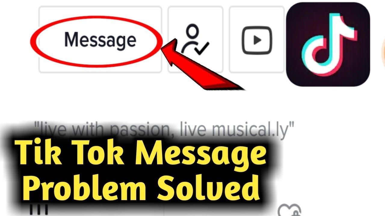 Tik Tok Message Problem Solved Youtube