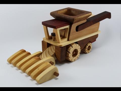 wooden toys big john tractor combine grain trailer part 2 ...