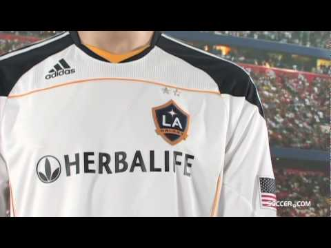 new product 55758 b89fc adidas LA Galaxy Authentic Long Sleeve Home Jersey