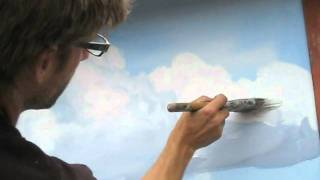 How to paint clouds technique - Mural Joe(Mural Joe aka Joe Cornelius demonstrates his technique for painting clouds. More