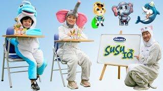 Lớp Học Vui Nhộn SUSU IQ Cùng Các Bạn Thú Siêu Đáng Yêu ❤ AnAn ToysReview TV ❤