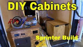 DIY Custom Cabinets For Sprinter Van Build - ICECO 12 Volt Fridge