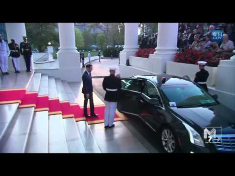 Djibouti President Ismail Omar Guelleh arrives at the White House Diner