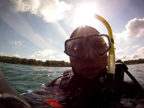 Scuba Diving the Airplane in Pearl Lake, South Beloit, IL