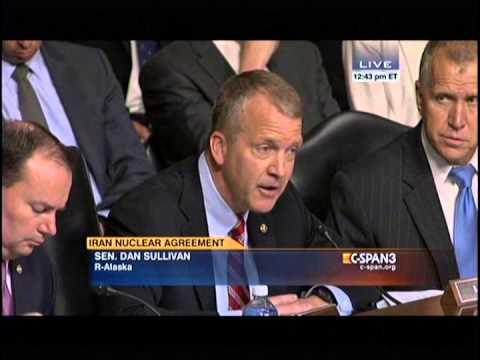Sen. Dan Sullivan at Senate Armed Services Committee Hearing on Iran Deal