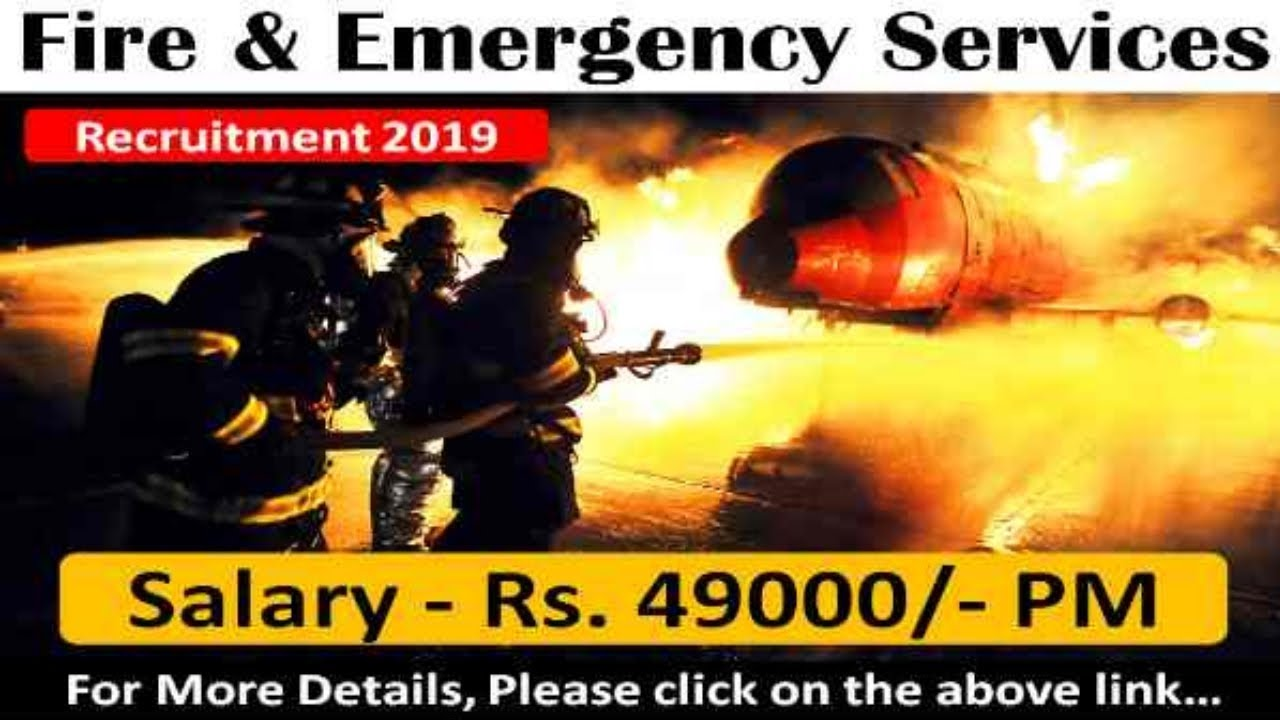 Fire & Emergency Services (FES) Recruitment 2019 - 8th pass jobs