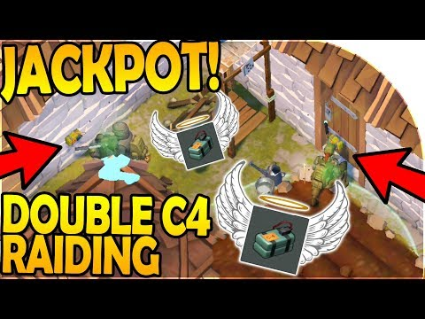 DOUBLE C4 RAIDING (HIT the JACKPOT!) - Last Day On Earth Survival Update 1.8.1