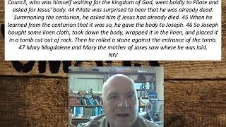 Lesson 111 Mark 15:42-47  November 12, 2020