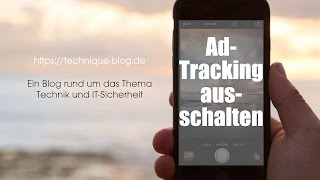 iPhone - AdTracking deaktivieren