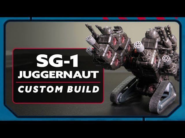 How to Build the Custom SG-1 Juggernaut | #BuildToBattle