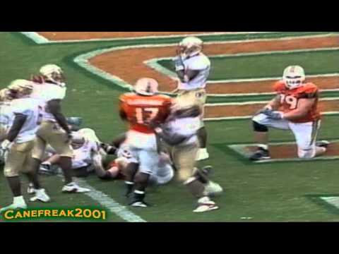 2000 Miami Hurricanes vs Florida State Highlights
