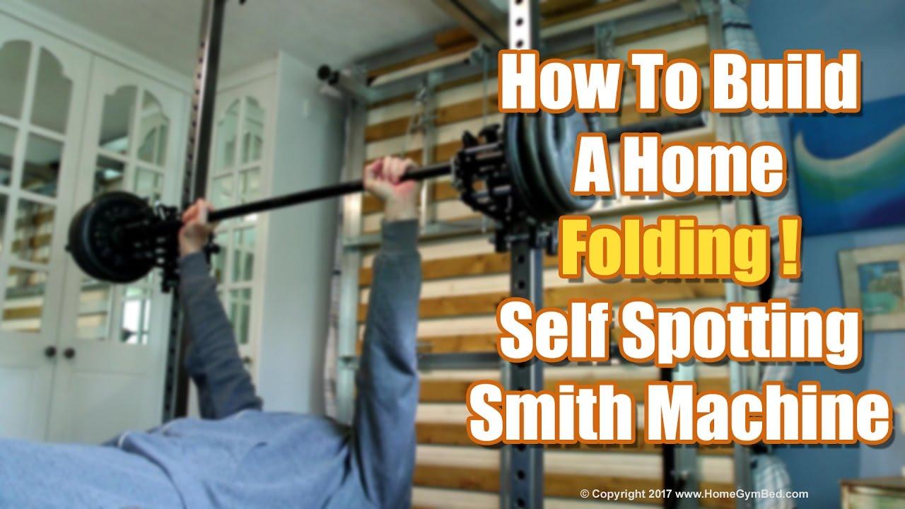 58c49ba63a4 Homemade Gym Equipment - DIY Smith Machine. Home Gym Bed