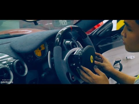 Ferrari F430 Interior Makeover - Full Grey Alcantara Leather