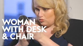 Rebel Wilson's Tips For How To Glow Up | Woman with Desk and Chair | InStyle