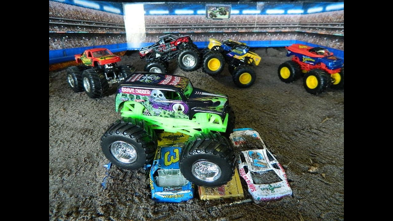 Monster Jam Monster Truck Jumps Toys Youtube
