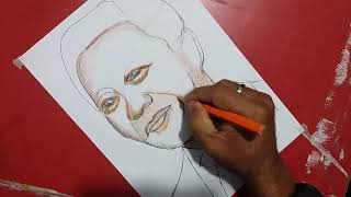 how to draw Nelson Mandela(step by step)