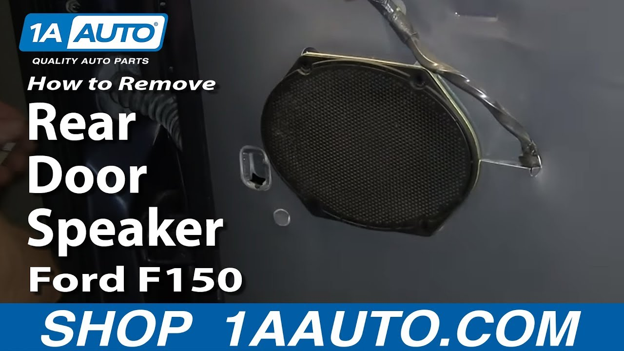 how to remove install rear door speaker 2004 08 ford f150 youtube. Black Bedroom Furniture Sets. Home Design Ideas
