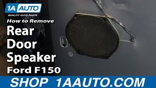 How To Remove Install Rear Door Speaker 2004-08 Ford F150