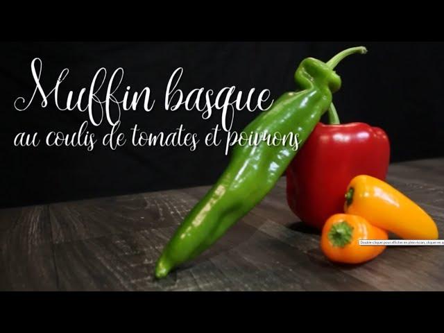 09-Muffin basque au coulis de tomates et poivrons