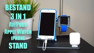Bestand 3 in 1 AirPods/Apple Watch/iPhone Stand