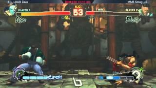 SSF4AE @ NLBC #28 - MMS Smug (Dudley) vs LOUD Zeus (Vega)