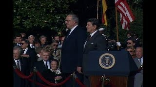 President Reagan's Remarks at Arrival Ceremony for Chancellor Kohl on October 21, 1986