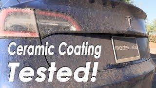"""Tesla Model 3 """"Ceramic Coating"""" tested Coast to Coast!"""