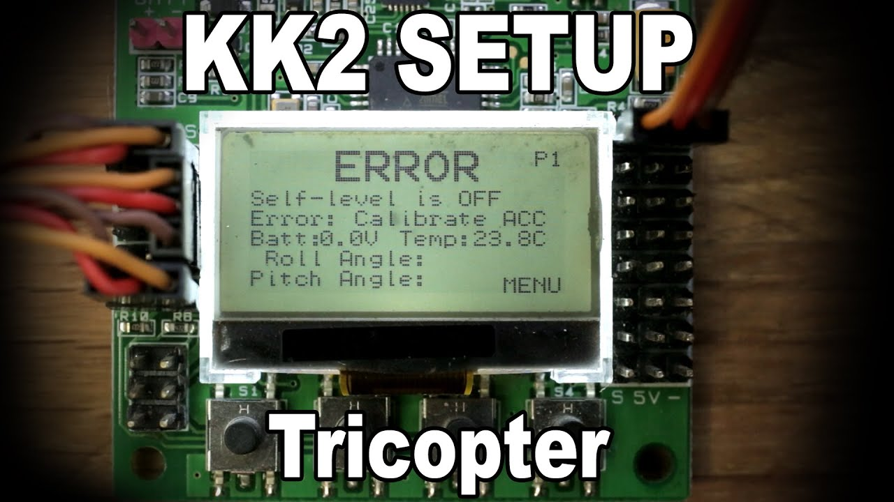 medium resolution of kk2 setup video tricopter youtube tricopter wiring kk board