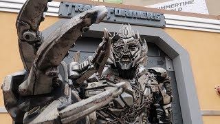 Fun Day At Universal Hollywood! | Backlot Tram Tour, Ride POVs & Getting Roasted By Megatron!