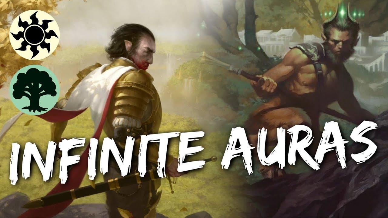 Infinite Auras [MTG Arena] | 0 Rare Selesnya Famished Paladin Infinite  Combo Deck in GRN Standard