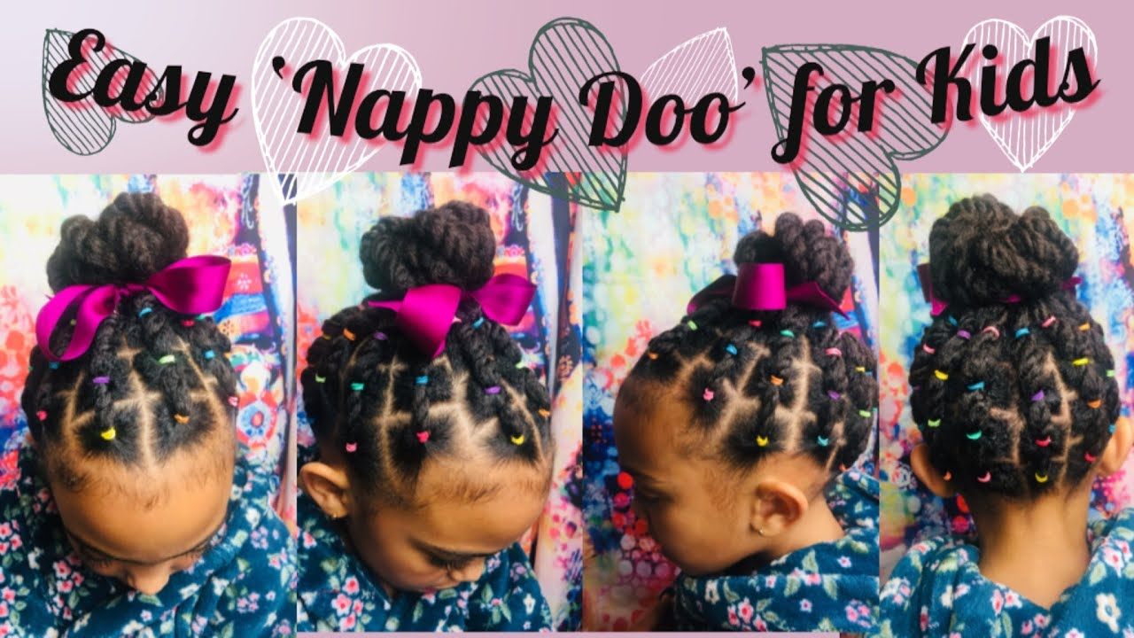 Quick and Easy hairstyles for kids|| 4b 4c Hair types ...