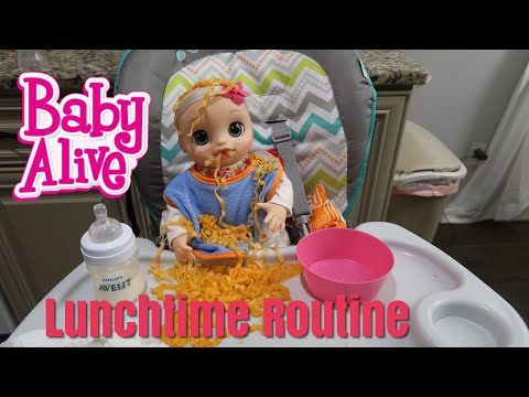 BABY ALIVE Lunch Time Routine baby alive real as can be
