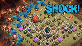 Max Electro Dragon Max Balloon On Fire | New Air Army 3 Star War Attack TH12 | Clash Of Clans war