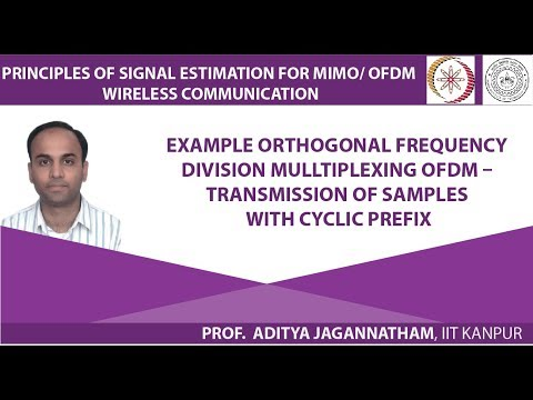 Lec 29 Example Orthogonal Frequency Division Mulltiplexing OFDM – Transmission of Samples with Cyc