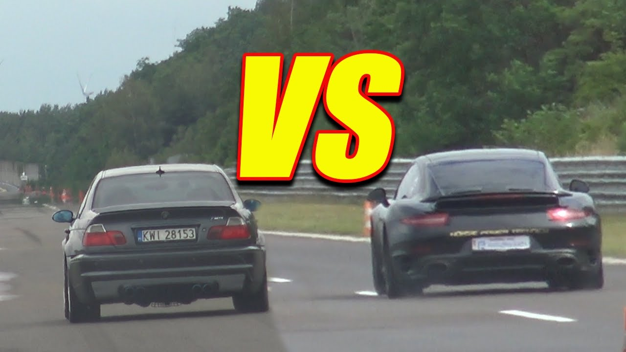 980 HP BMW M3 e46 vs PORSCHE 911 TURBO S